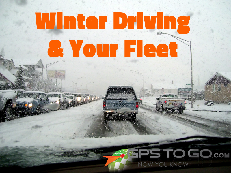 Winter Fleet Tracking Driving Canada